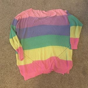 Colourful Stripes Oversized Sweater